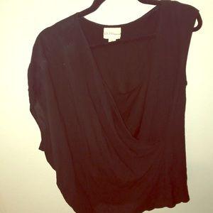 DKNY drape top